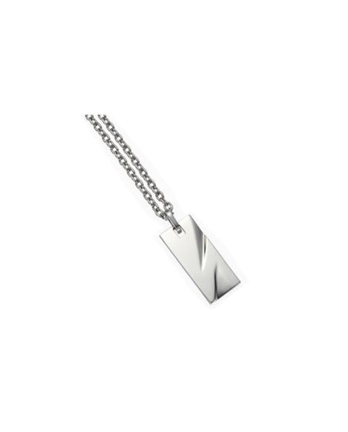 Pure Titanium Necklace for Men Plate 6 (Rectangle / Mirror) [TITANISUM / Ti-6m]