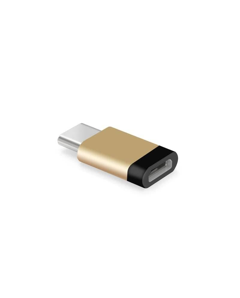 マイクロUSBケーブルでType-C スマートフォンに使える変換アダプター