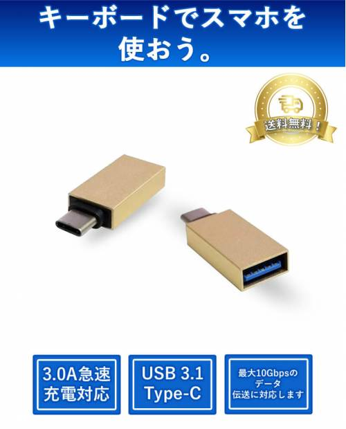 USB Type-C to USB-A female Type adapter USB31-TE261-GD