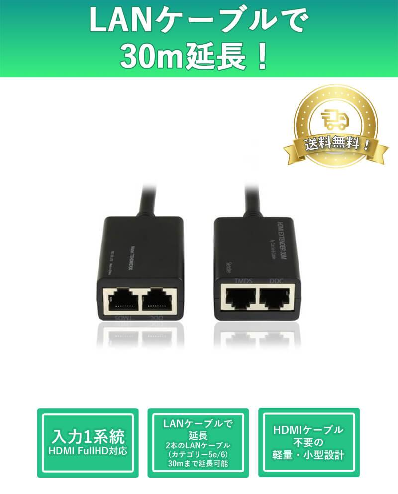 HDMI extender device that supports 1080p High-Quality resolution display and extends up to 30 meters